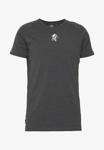 WITH TAPING - T-shirt med print - charcoal marl/black