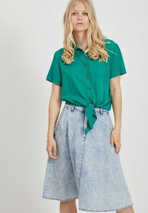 BINDEDETAIL - Button-down blouse - ultramarine green