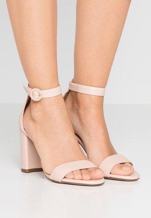 STELLA ANKLE STRAP - High heeled sandals - beige stone