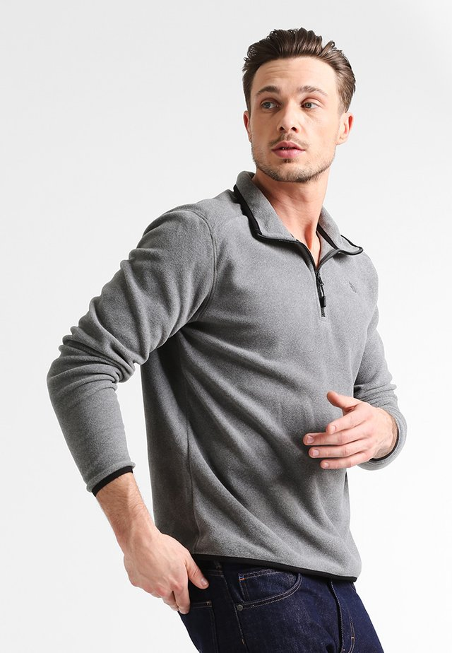 MENS GLACIER 1/4 ZIP - Fleecepullover - grey