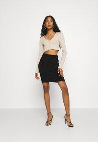 WAL G. - ZARRAH LOUNGE SKIRT - Mini skirt - black - 1