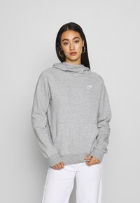 Nike Sportswear - Felpa con cappuccio - grey heather/white - 0