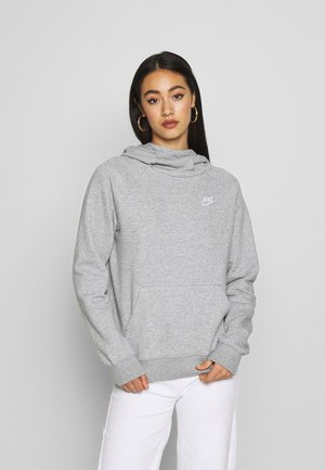 Mikina s kapucí - grey heather/white