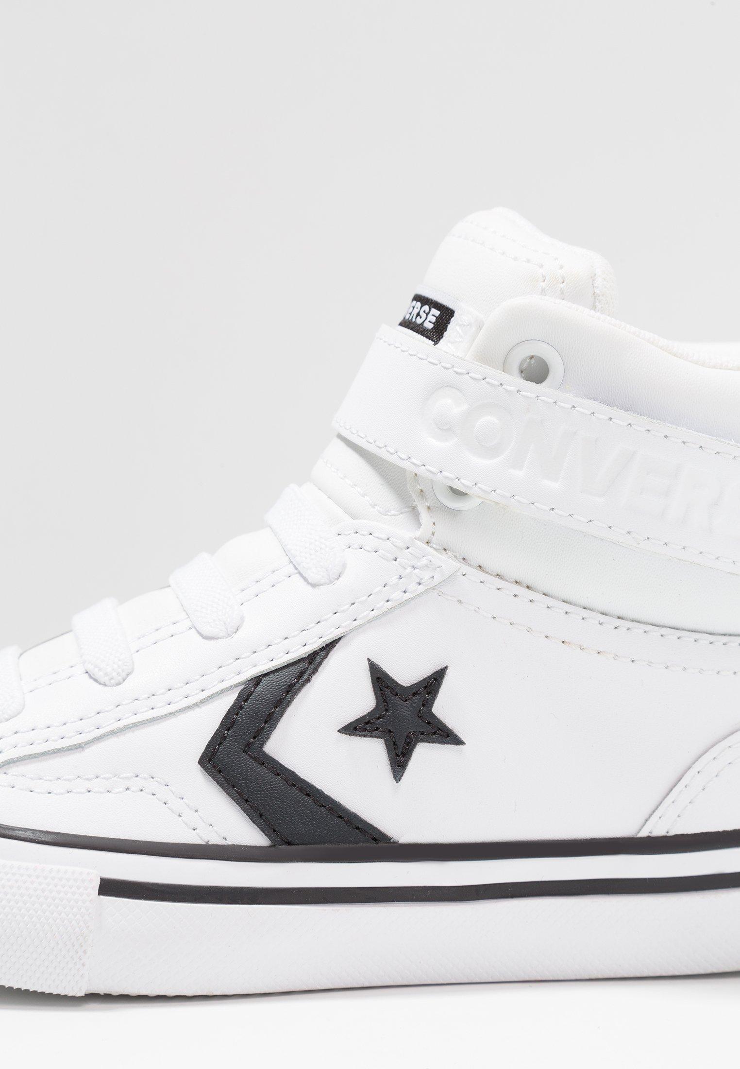 Converse PRO BLAZE STRAP - Sneakers alte - white/black/bianco ...