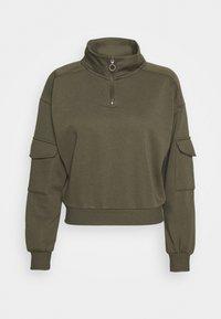 NMHELENE ZIP - Sweatshirt - kalamata