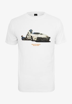 WEEKEND WOLF TEE - T-shirt con stampa - white