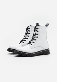 Tamaris - BOOTS - Lace-up ankle boots - white - 2