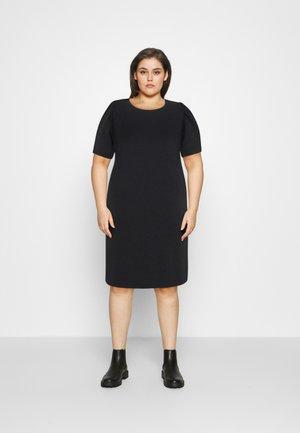 CARDINA LIFE O NECK DRESS - Day dress - black