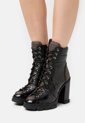 RIDLEY LACE UP BOOTIE - Lace-up ankle boots - black