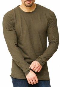 INDICODE JEANS - LONGSLEEVE WILLBUR - Long sleeved top - dark green - 0
