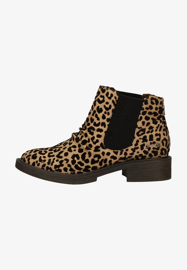 Bottines - light taupe leopard willow