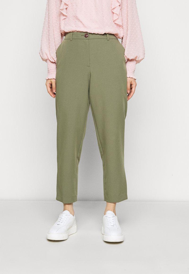 Dorothy Perkins Petite - PETITES ELASTIC BACK NAPLES ANKLE GRAZER - Trousers - khaki