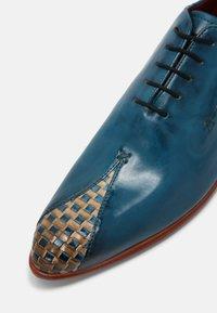 Melvin & Hamilton - TONI 31 - Šněrovací boty - blue/nude - 4