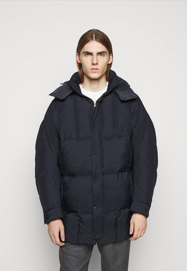 TILES LONG COAT - Winterjacke - navy