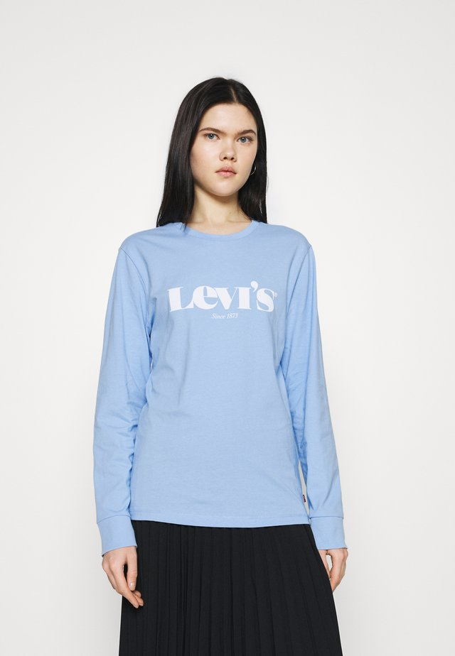 STANDARD FIT TEE - Long sleeved top - placid blue