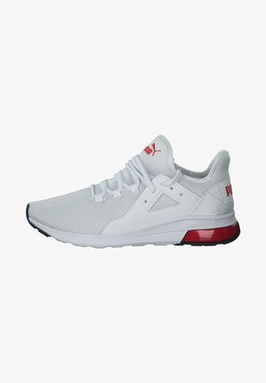 Trainers - white high risk red