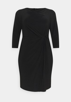 TRAVA 3/4 SLEEVE DAY DRESS - Jersey dress - black