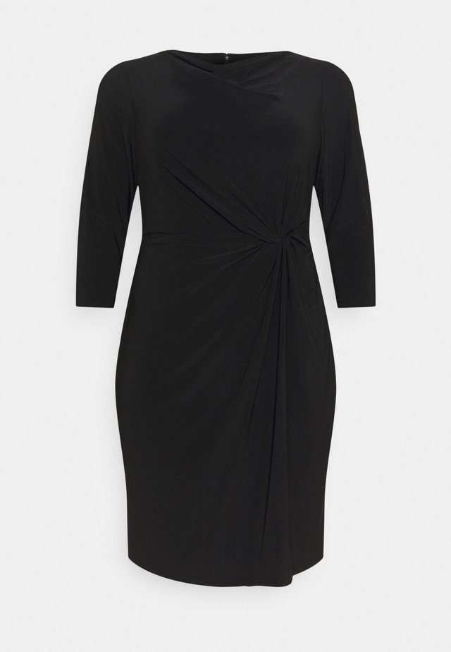 TRAVA 3/4 SLEEVE DAY DRESS - Sukienka z dżerseju - black