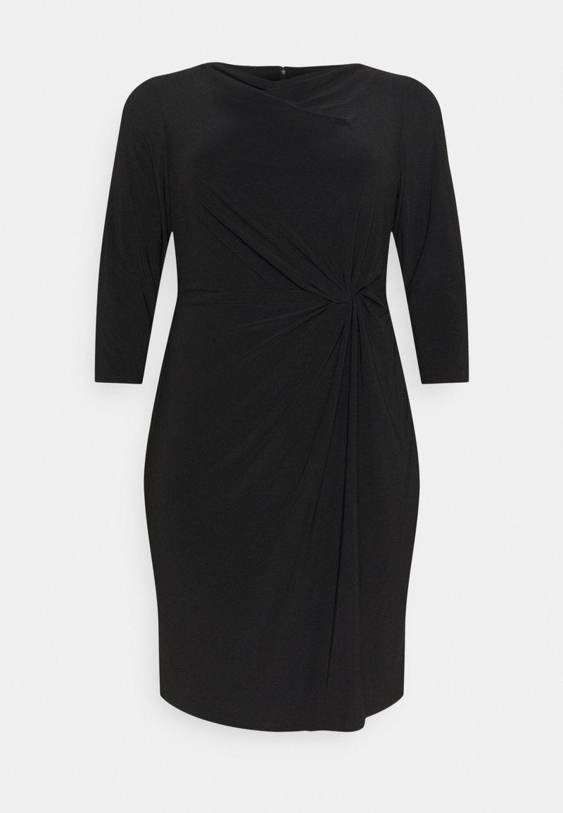 Lauren Ralph Lauren Woman - TRAVA 3/4 SLEEVE DAY DRESS - Trikoomekko - black