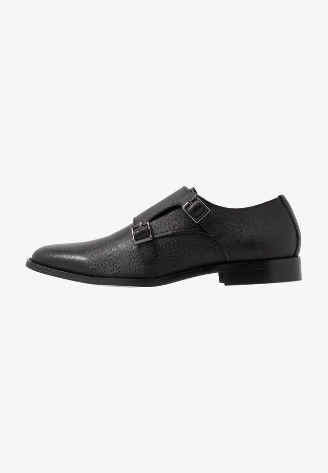 MILO MONK - Eleganckie buty - black