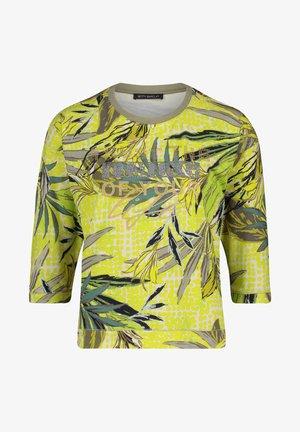 T-shirt à manches longues - green/yellow