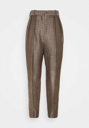 Trousers - marron/noir