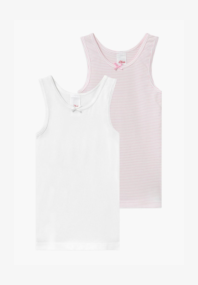 s.Oliver - STRIPED 2 PACK - Undershirt - lolly