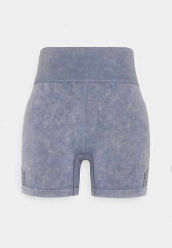 LIFESTYLE SEAMLESS YOGA SHORT - Leggings - blue jay wash