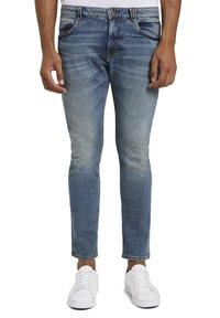 TOM TAILOR - Slim fit jeans - mid stone bright blue denim - 6