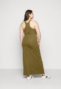 Urban Classics Curvy - LADIES LONG RACER BACK DRESS - Maxi šaty - summer olive - 2