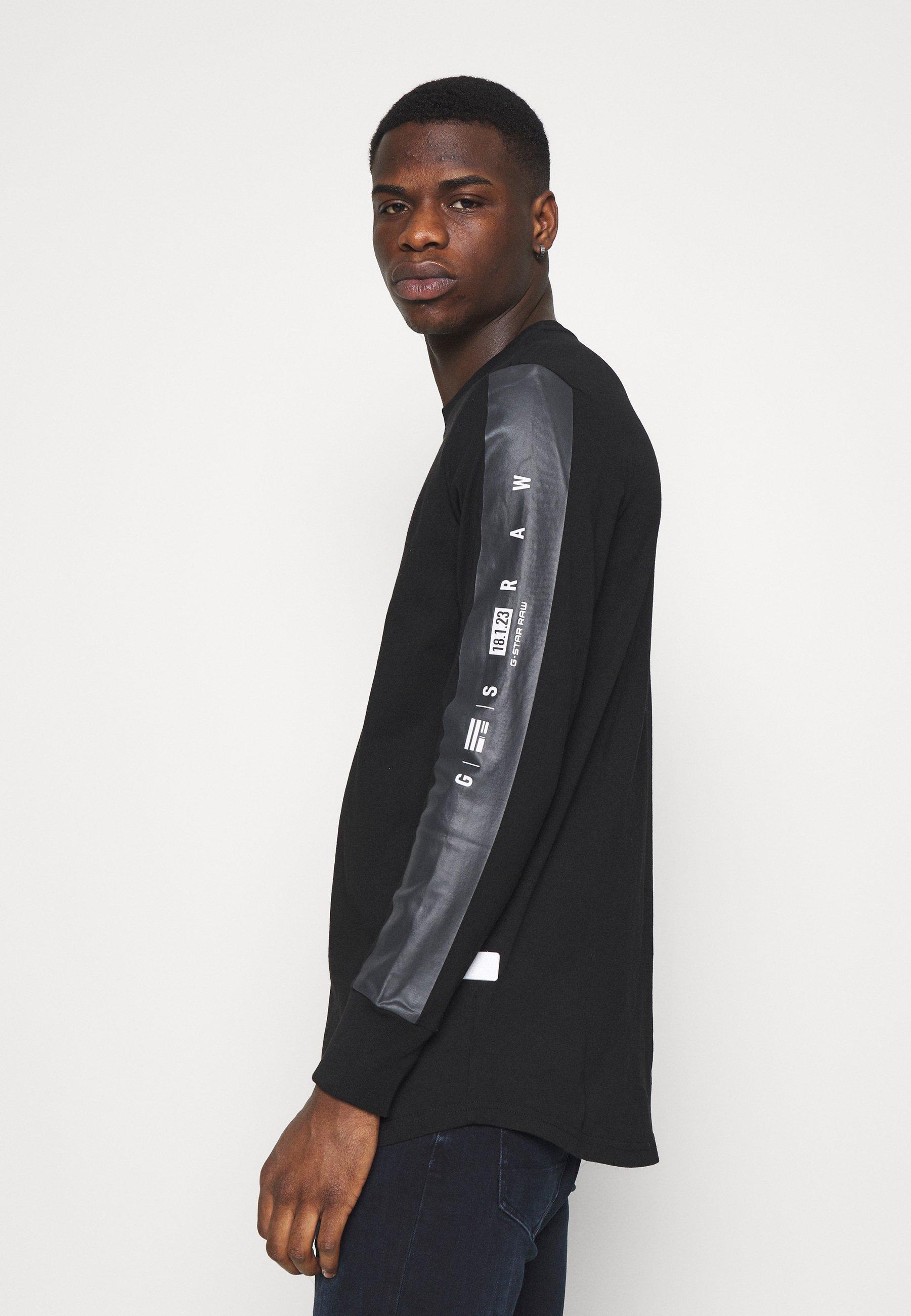 Men RAW SLEEVE LOGO - Long sleeved top