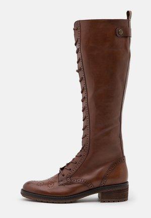 Snørestøvler - caramello