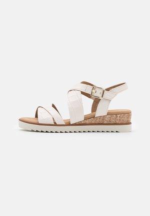 Wedge sandals - elfenbein/gold