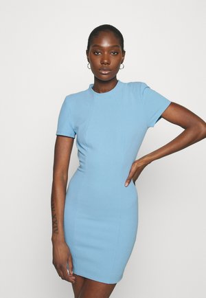 THE SUN RAYS MINI DRESS - Etuikjole - blue