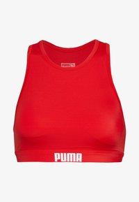Puma - SWIM WOMEN RACERBACK - Bikini top - red - 0