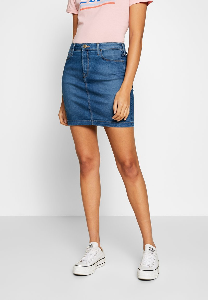 Lee - MID SKIRT - Gonna di jeans - mid bellevue