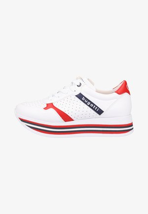 Joggesko - white/red