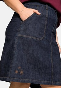Sheego - Denim skirt - dark blue denim - 4