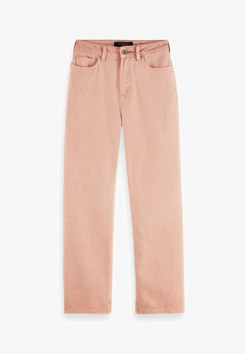 Straight leg jeans - pastel pink