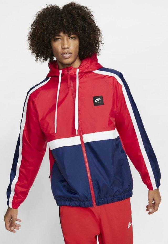 Training jacket - red/blue/white