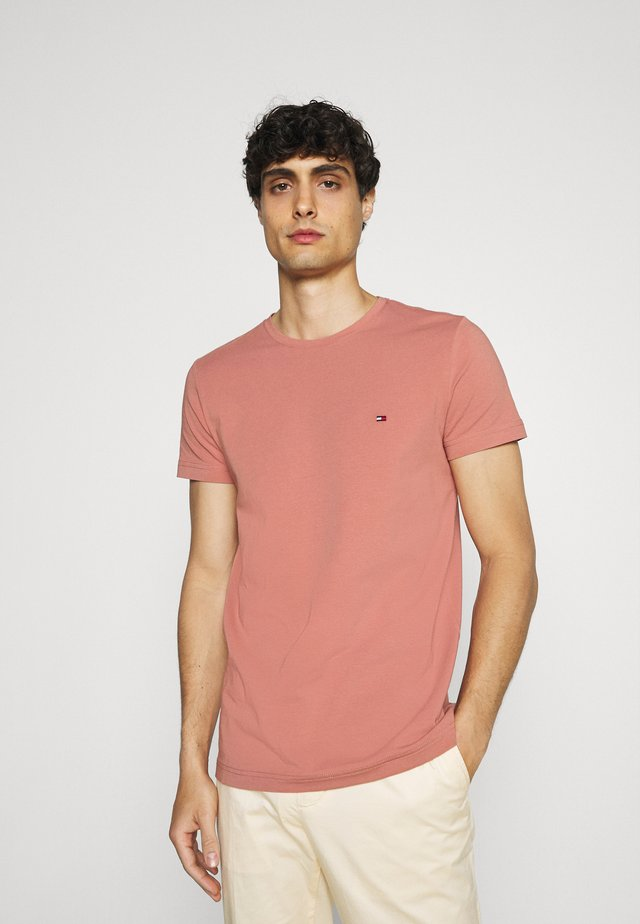 STRETCH SLIM FIT TEE - T-shirt - bas - mineralize