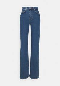 Selected Femme Tall - SLFBLAIR STRAIGHT LONG - Relaxed fit jeans - dark blue denim - 3