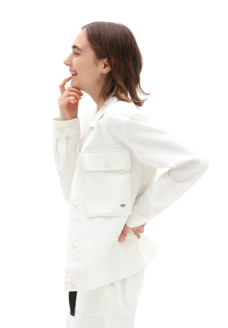 Vans - WM CLARK JACKET - Summer jacket - marshmallow