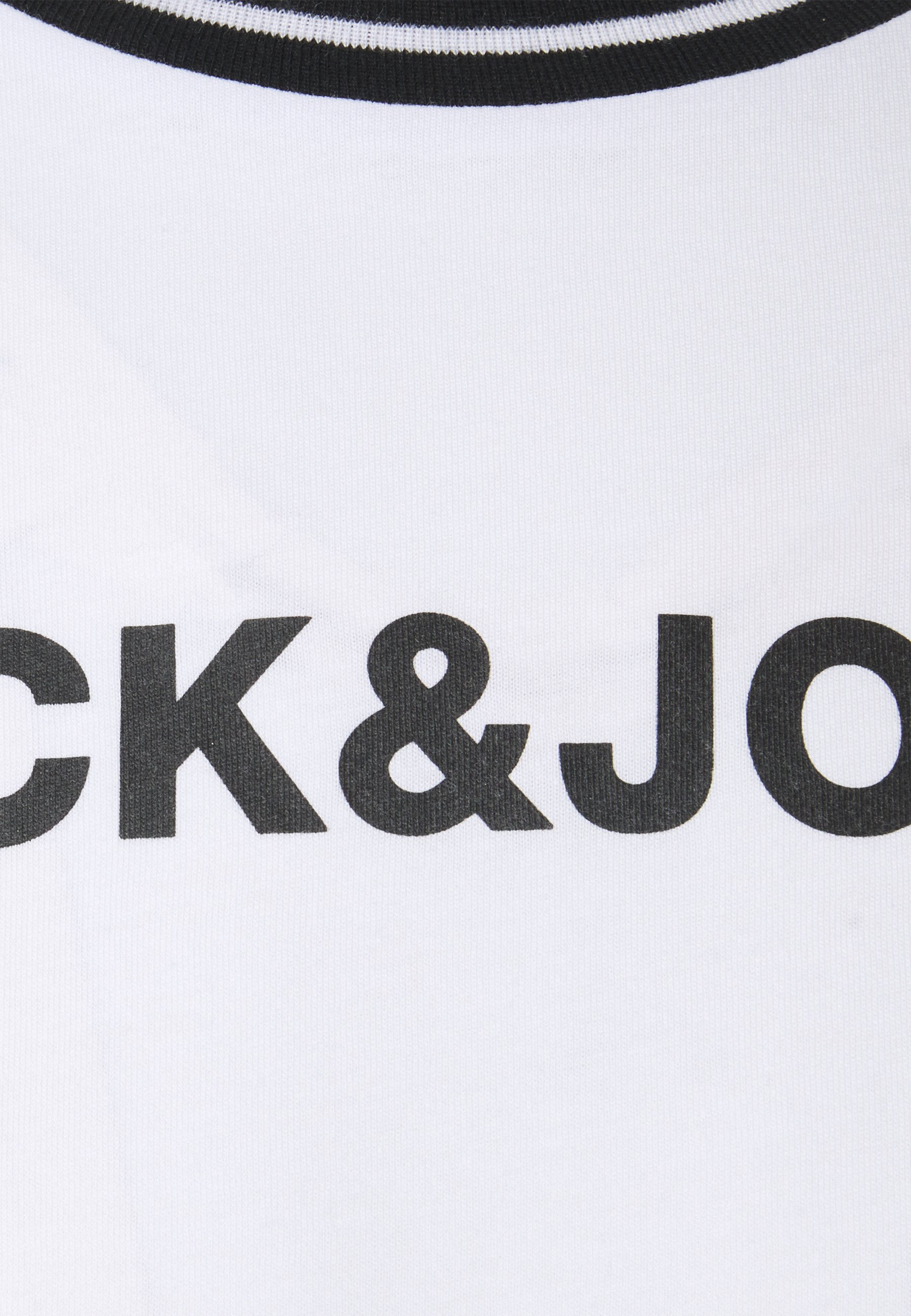 Jack & Jones JCOCLEAN TEE CREW NECK - Print T-shirt - white 11ZYj