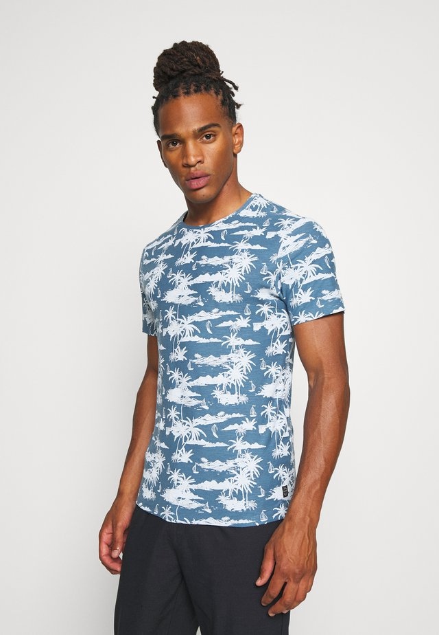 T-shirt med print - copen blue