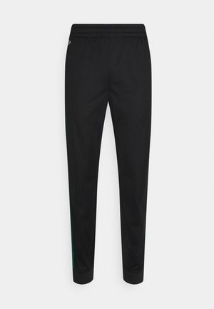 TRACK PANT - Tracksuit bottoms - black/bottle green