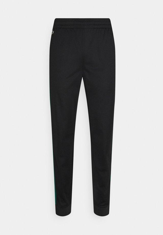 TRACK PANT - Pantaloni sportivi - black/bottle green
