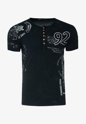 MIT SEITLICHEM PRINT - T-shirt print - schwarz