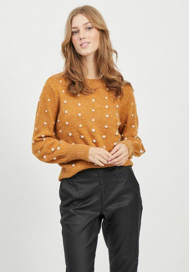 OBJBOUBLE CREW NECK - Jersey de punto - buckthorn brown