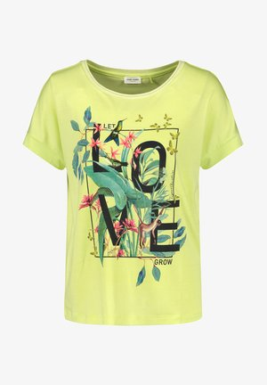 LET LOVE GROW - Print T-shirt - light lime